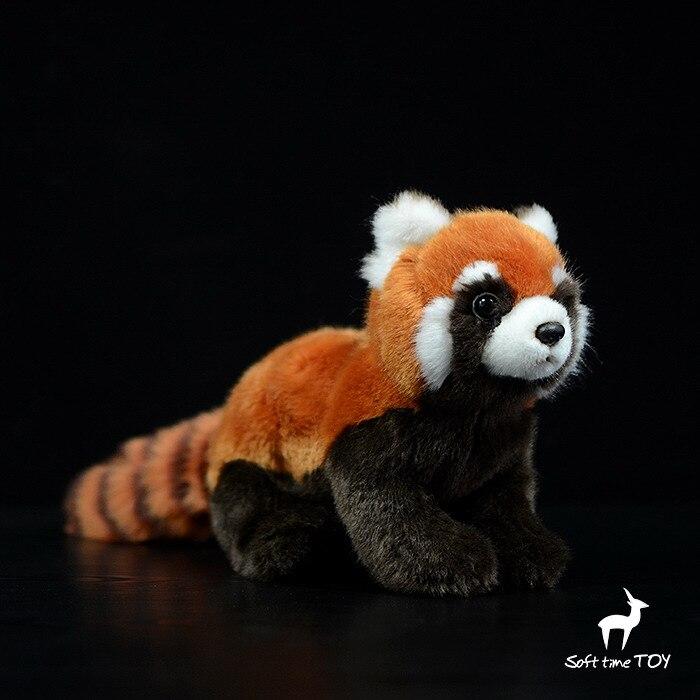 Высококачественная Реалистичная красная панда, плюшевые игрушки, мягкие игрушки-животные, реалистичные Малые Куклы-панды, детские игрушки