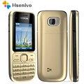 Оригинальный мобильный телефон Nokia C2 C2-01  разблокированный золотом  GSM восстановленные мобильные телефоны и русская иврит арабская клавиату...