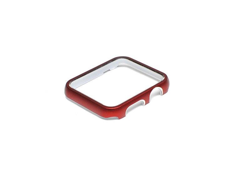 Capa de Relógio para Apple Case Iver Série 2 3 Banda Cor Metal Quadro Protetor 38mm 42mm Decorativo Ver 1