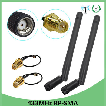 433mhz radio antenna 3dbi magnetic base extension cable 1 5m rp sma male rf ipx u fl switch rp sma female pigtail cable 15cm 20pcs 433Mhz Antenna 3dbi GSM 433 mhz RP-SMA Connector Rubber 433m Lorawan antenna+ IPX to SMA Male Extension Cord Pigtail Cable