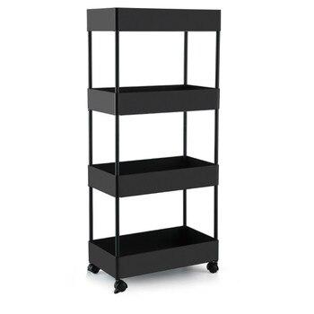 Kitchen Shelf, Multi-storey Trolley, Household Pulley, Movable Vegetable Basket, Shelf, Vegetable And Fruit Basket