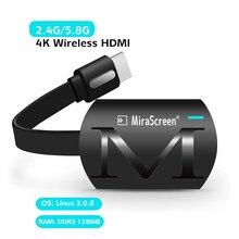 Mirascreen G4 artı 2.4G/5.8G 4K kablosuz HDMI Wifi ekran Dongle TV çubuk mini PC yansıtma Miracast Airplay android iOS