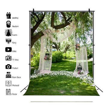 Wedding Photocall Marriage Flower Curtain Baby Birthday Portrait Photography Backdrop Vinyl Photo Background For Photo Studio