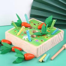 Игрушка монтессори для детей деревянная игрушка рыбалки наживка