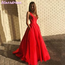 Красные Длинные Выпускные платья 2020 Новые Вечерние без рукавов