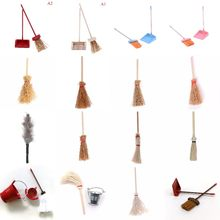 18Styles Dollhouse Miniature Mini Broom Dustpan Cleaning Tool Kitchen Furniture Toy Accessories Match Sylvanian Family Toys(China)