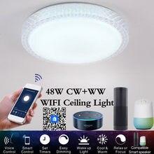 Led ceiling light smart wifi lights 48w 110v 220v modern crystal