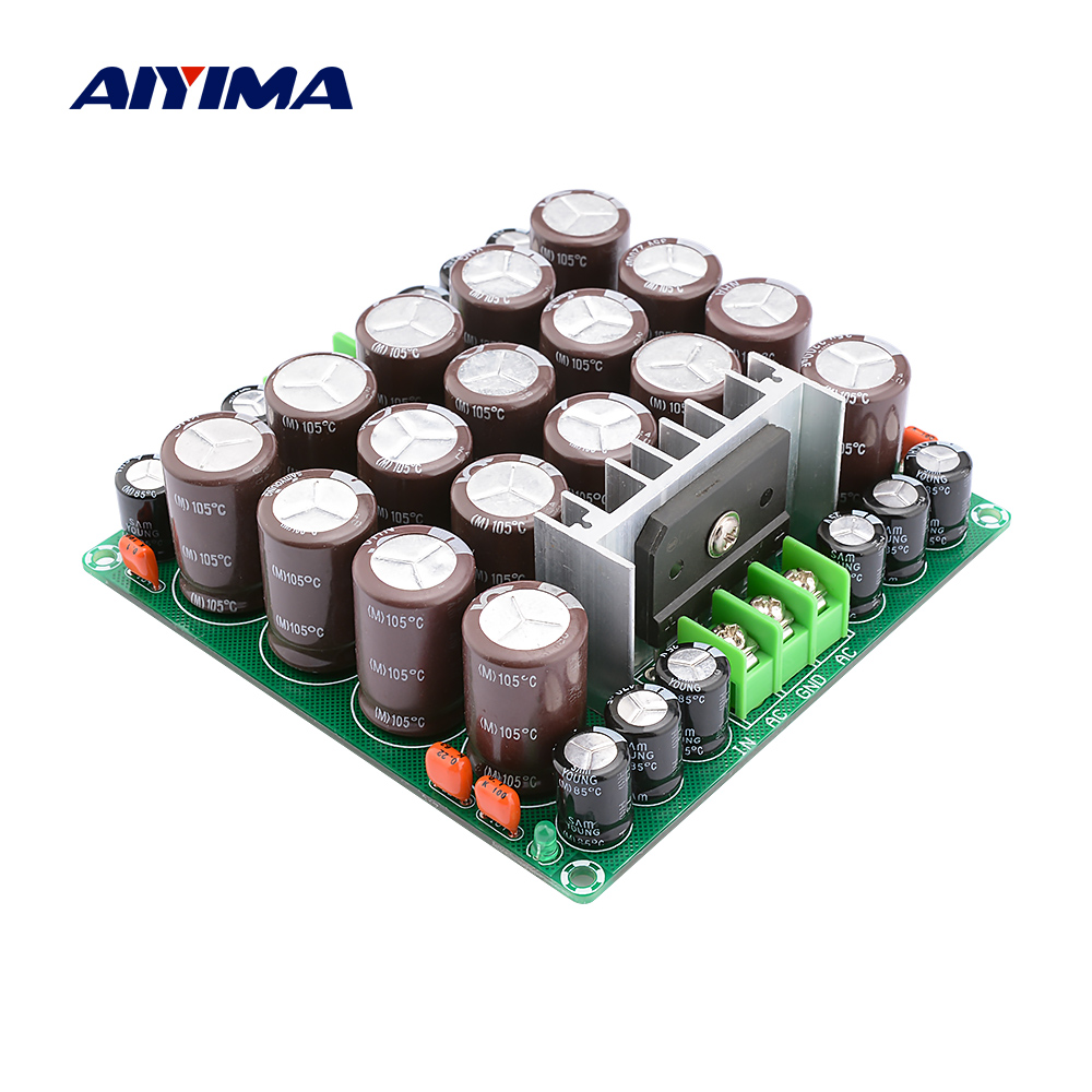 AIYIMA Rectifier Filter Preamplifier Amplifier Power Supply Board 25A <font><b>2200uF</b></font> 35V <font><b>Audio</b></font> Rectifier Diy Speaker Home Theater image