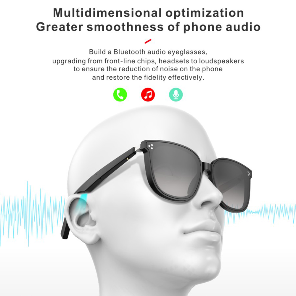 BONOLA Wireless bluetooth sunglasses glasses smart phone microphone outdoor waterproof sports stereo music wireless headphones