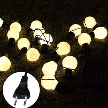 20 led шар струнный светильник лампа наружный водонепроницаемый