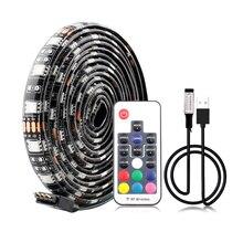 5V USB LED Strip 5050 Lamp Tape RGB Backlight TV USB Led Strip Lamp Waterproof 5 V 60Led/m 1m RGB With 3Key 17Key Remote Control