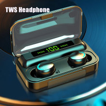 plufy bluetooth headphones sports wireless earphones music earbuds auriculares inalambrico csr4 1 touch audifonos ecouteur Wireless Earphones Bluetooth 5.0 TWS audifonos bluetooth inalambrico In-Ear Earbuds 2200mah F9 HIFI Sports Gaming Headset