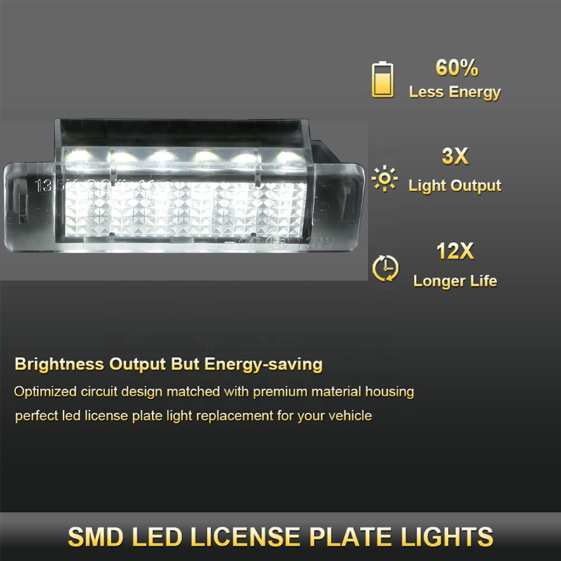 2x LED LICENSE NUMBER PLATE LIGHT OPEL VAUXHALL ASTRA F Canbus