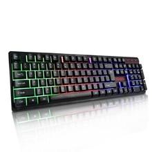 Красочная подсветка игровая клавиатура механическая ручная пластиковая панель плавающая клавиша 19 ключ
