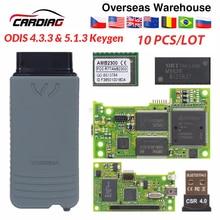 10 stücke 5054 5054A ODIS Neueste V 5.1.3 keygen Volle Chip Original OKI AUTO Auto OBD2 Diagnose Werkzeug 5054A Bluetooth code Reader 5054