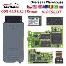 10pcs 5054 5054A ODIS 최신 V5.1.3 keygen 전체 칩 원래 OKI 자동차 자동 OBD2 진단 도구 5054A 블루투스 코드 리더 5054