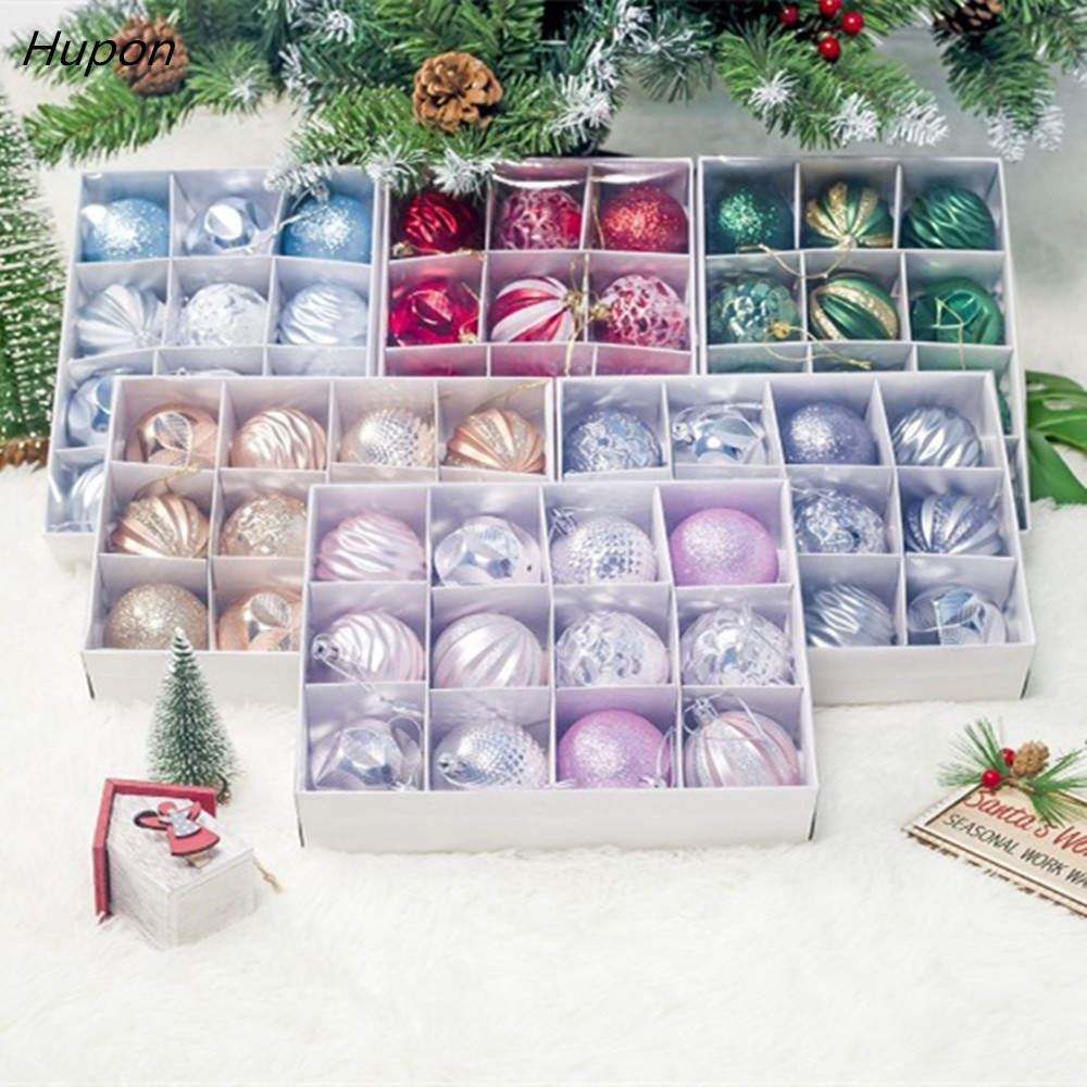12pcs Christmas Tree Decorations Balls Bauble Xmas Party Hanging Ball Ornament Decorations For Home Christmas Gift Kerst Natale