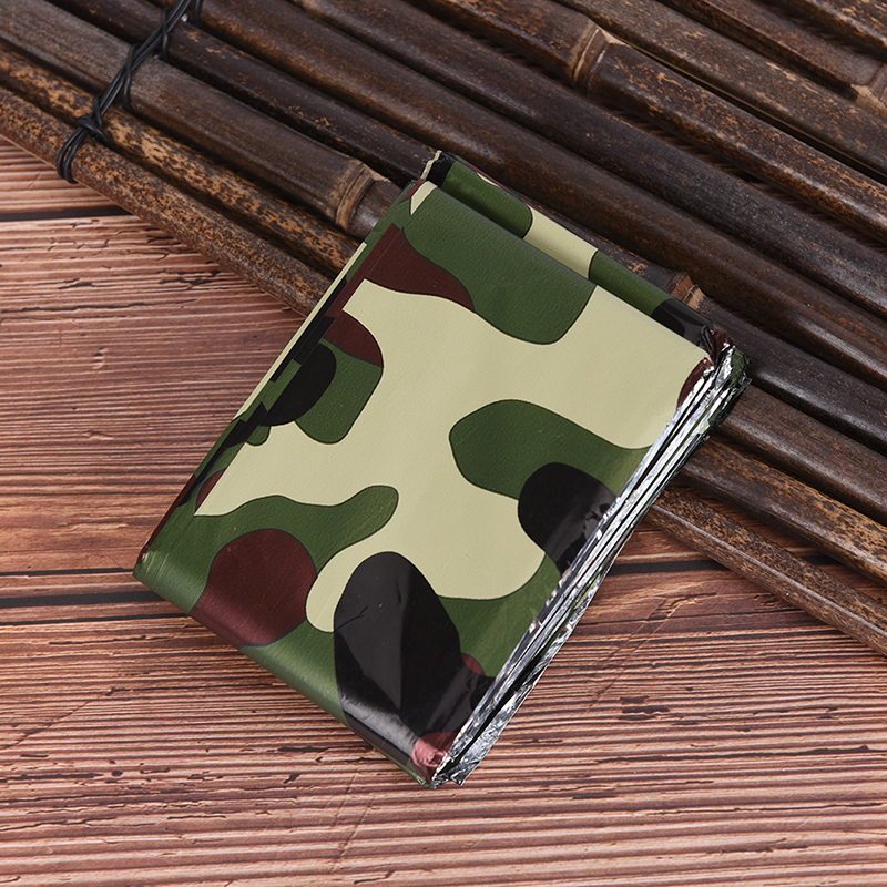 Outdoor Emergency Sleeping Bag Survival Rescue Thermal First Aid Blanket Camping Foil Rescue Blanket New Waterproof  Lightweight