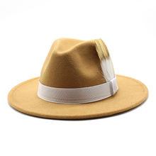 Шляпа фетровая унисекс однотонная винтажная Классическая Федора