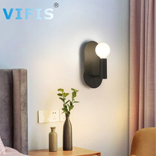 Modern  LED Wall Lamp Bedroom Mirror Beside Lamps Indoor American Retro Wall Light Sconce wall lamp Black/White with G9 Bulb