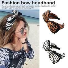 Fashion Bowknot Hairband Headband Ladies Big Bow Hair Accessories Headwear For Girls Wide-brimmed headband girls bow decorated headband