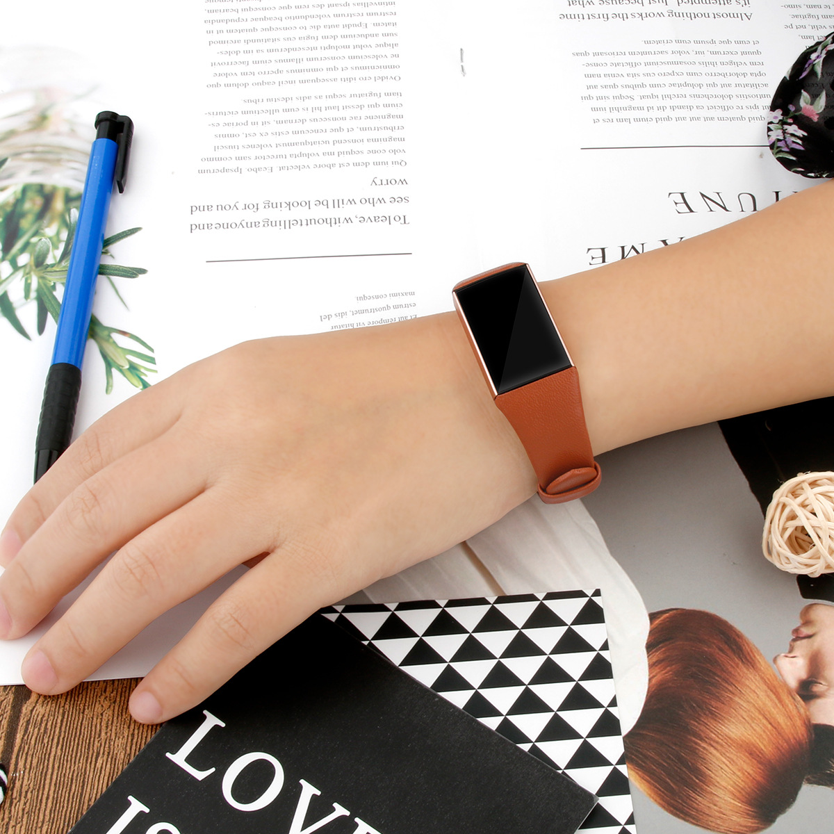 Essidi Geniune Leather Strap For Fitbit Charge 3 4 Smart Bracelet Band Clasp For Fitbit Charge 3 4 Wristband Loop 3