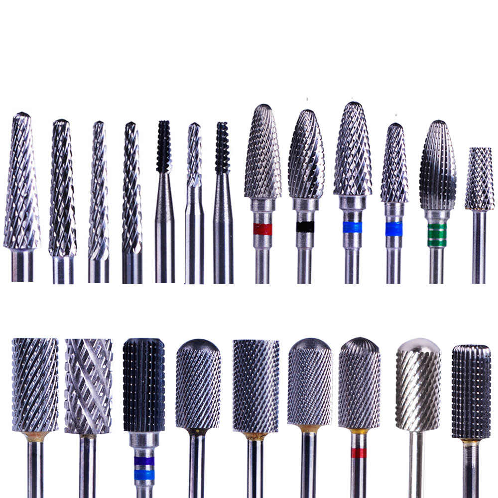 1PC Tungsten Carbide Nail Drill Bits Electric Manicure Drill Machine Accessories Dead Skin Cutter Nail File Nail Art Tool BE1-22