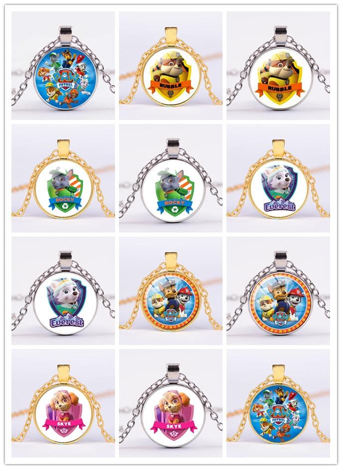 Ожерелье женское «Щенячий патруль», изящное колье-чокер с изящными инициалами, колье золотого и серебряного цвета, Подарочная бижутерия