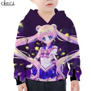 Image 3 - Детская одежда для маленьких девочек; Толстовка с 3D принтом Сейлор Мун Гэлакси; Свитер с принтом для дочки; Спортивная одежда для маленьких мальчиков; Пуловер