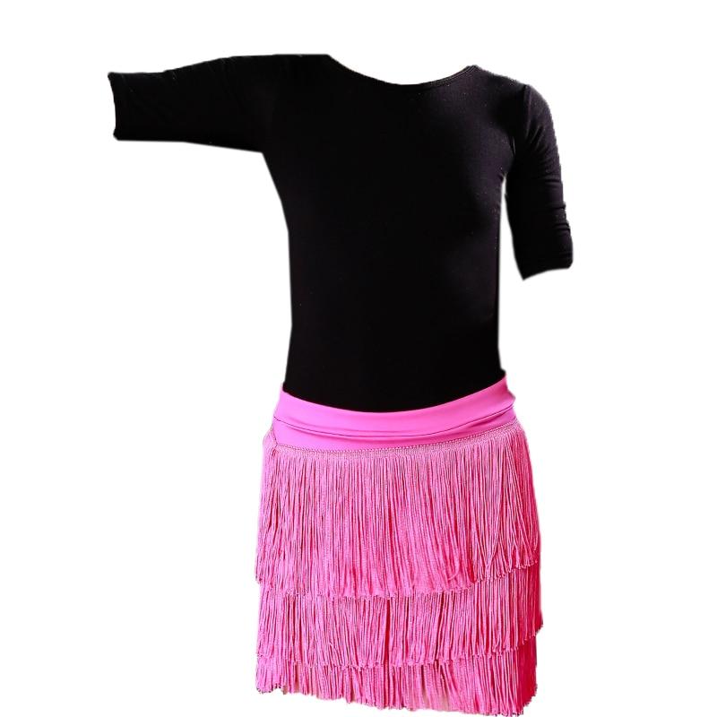 2019 Hot Sale Fashion Sexy Adult Lady Dance Dance Skirt Women's Double Tassel Latin Dance Skirt Fringed Skirts 16 Kind Colors