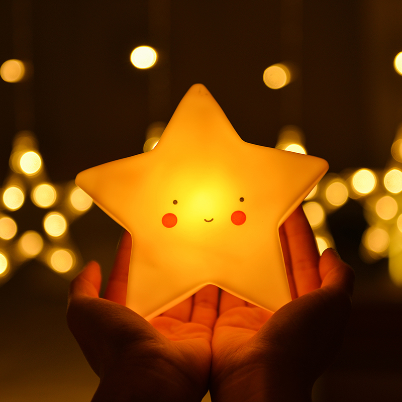 Cartoon LED Night Light AG13 Moon Star Unicorn Rabbit Cute Bear Night Lamp Bedroom Children's Toy Light Baby Night Lamp LED Toys
