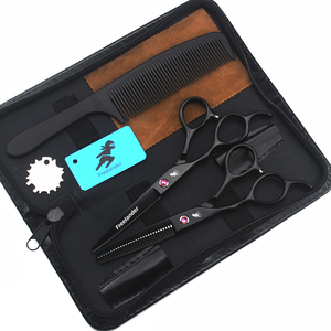"""Image 2 - 5.5/6.0 """"sprzedaż srebrny japoński nożyczki do włosów tanie nożyczki fryzjerskie nożyce fryzjer golarka strzyżenie lewa ręka nożyczki"""