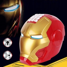 Electronic Light and Music Iron Man Helmet Password Lock Piggy Bank Action Figur