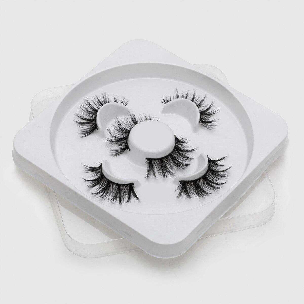 3 PairsMink Eyelashes 3D False Lashes Thick Crisscross Makeup Eyelash Extension Natural Volume Soft Fake Eye Lashes