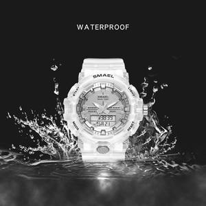Image 3 - SMAEL reloj deportivo de cuarzo para mujer, resistente al agua hasta 50M, jalea de dama, 8025