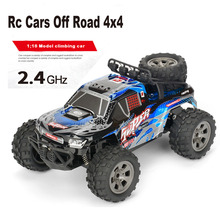 Rc Cars Off Road 4x4 1:18 Scale 20KM/H 2.4G Remote Control Off-road Vehicle Multi-terrain Climbing Car 4wd Kids Toys Gift Rc Car r c car 2 4g 4ch 4wd 4x4 driving car monster truck off road vehicle remote control car model toys gift for children e