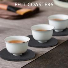 Square Novelty Filzuntersetzer Dinning Coaster Superior Mat Thermal Cup Drink Fashion Diatomite Home Kitchen Accessories