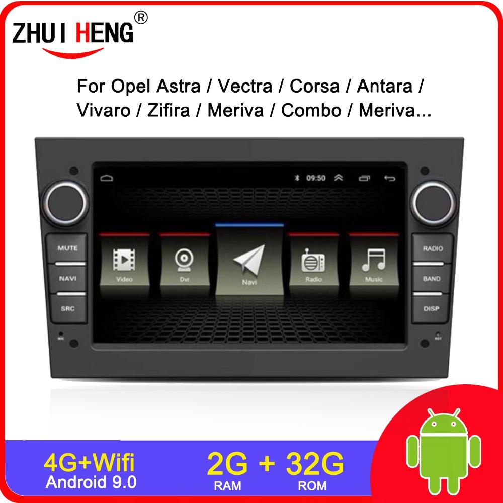 2G 32G Android 9,0 2 DIN автомобильное радио для opel Astra H G J Vectra Antara Zafira Corsa Vivaro Meriva Veda Vauxhall автомобильное радио авто