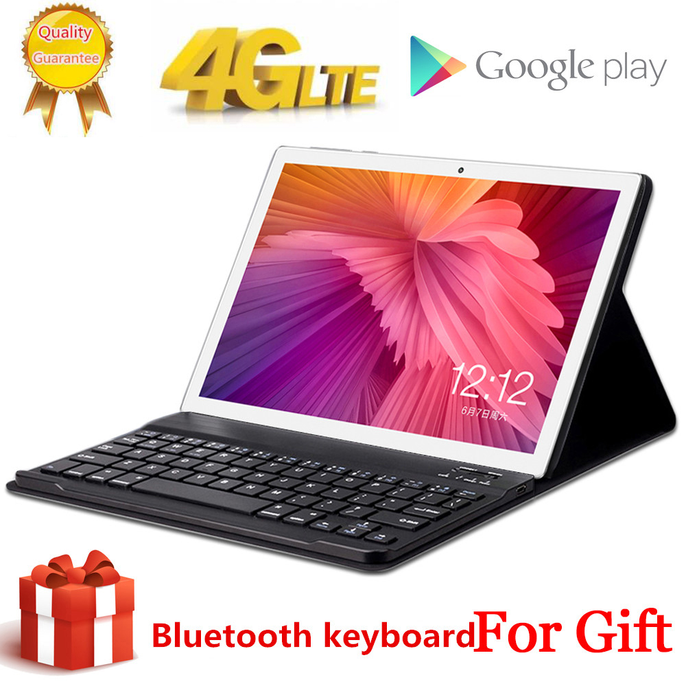 Free Gift BlueTooth Keyboard Tabletr 4G LTE 10.1 Inch 2.5D Tablet Pc 10 Deca Core MT6797 8GB RAM 128GB ROM Android 9.0 2560*1600