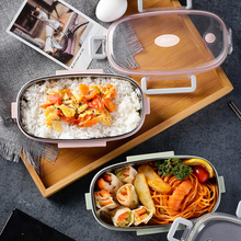 304 Stainless Steel Lunch Box Portable Food Container Leak Proof Japanese Thermos Bento Healthy School for Kids