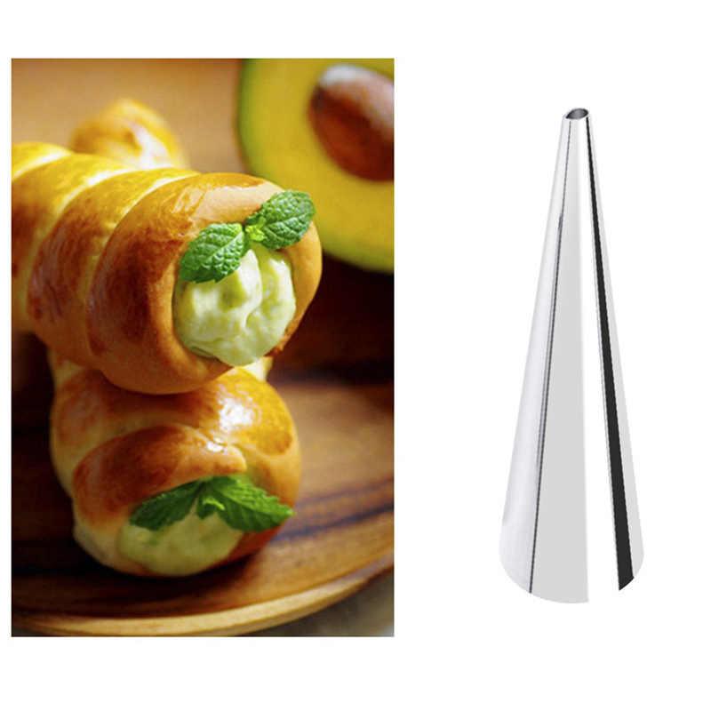 Alta Qualidade Tubo Cônico Cone Rolo Moldes Moldes de Croissants Creme de Pastelaria Chifre em Espiral Em Aço Inoxidável Molde Do Bolo Pão