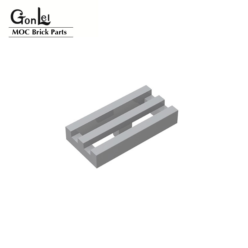 100 шт./лот специальный конструктор 1x2 решетка радиатора с нижним желобом детали для кирпича 30244 2412b MOC строительные блоки Обучающие детали «сд...