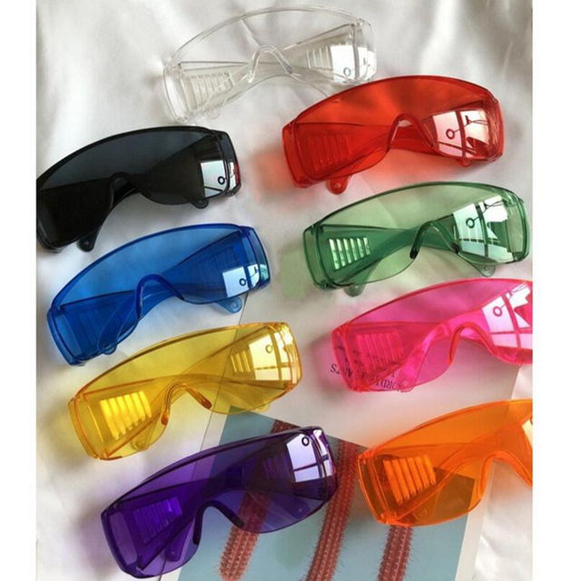 Safety Goggles Dustproof Eyewear Over Glasses UV Protective Lens Sunglasses Anti-Saliva Mask Anti Flu Anti-splash Glasses