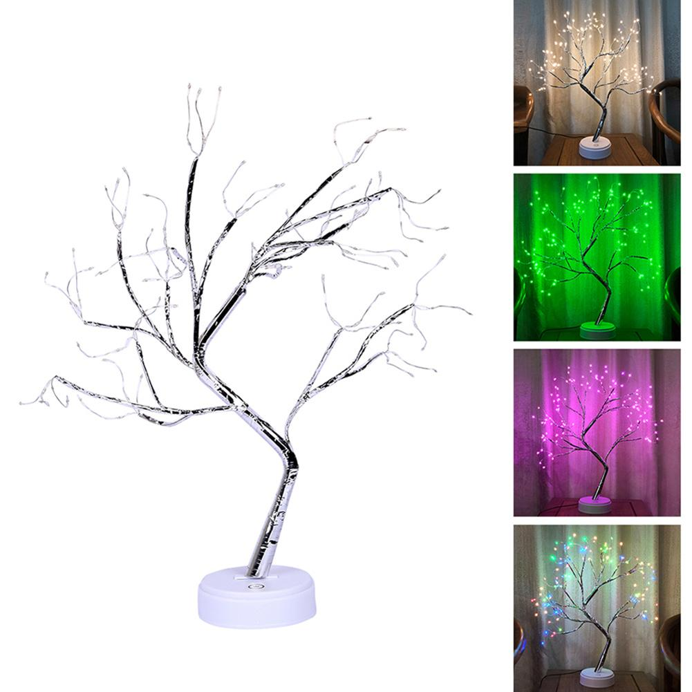 108 LEDs USB Tree Night Light Touch Screen Switch Desk Lamp Kids Gift Home Decor
