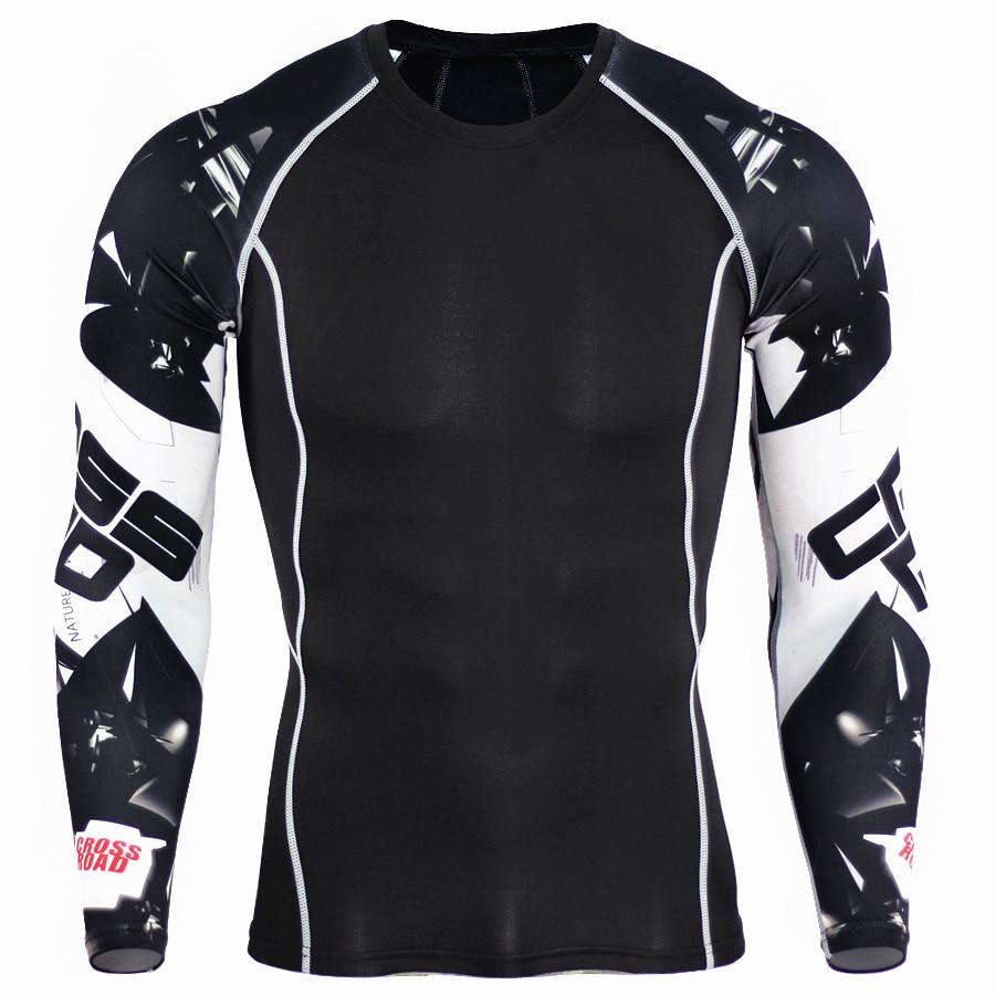 transpiração mma treinamento fitness kit rashguard masculino