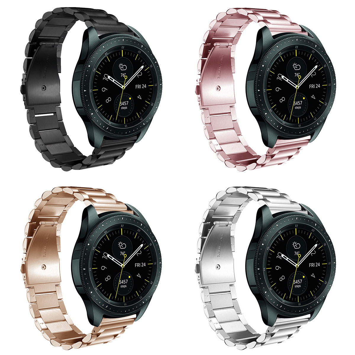 Stainless Stee Straps For Samsung Galaxy Watch 46mm/42mm Bands For Galxy Active 2 1 / S3 S2 Watch Strap 22mm Watch Band 20mm
