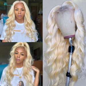Allove 613 парик фронта шнурка 1B/613 Ombre Человеческие волосы парик волнистые человеческие волосы бразильские цветные человеческие волосы парики