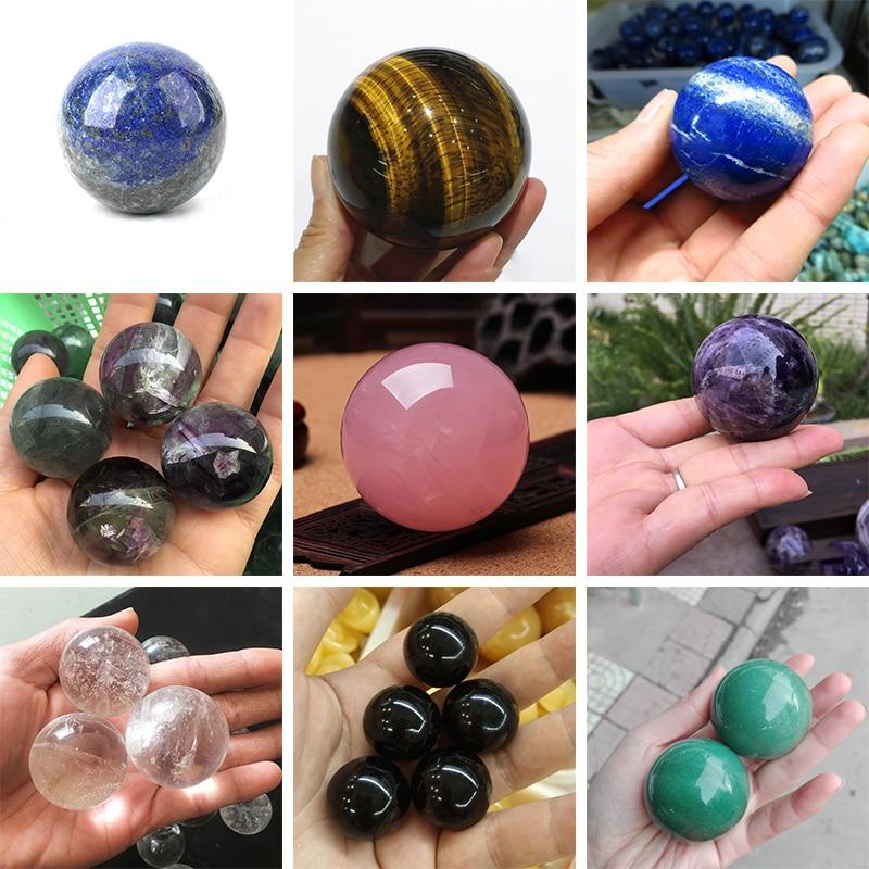 100% натуральный хрустальный шар энергия полированная очень красивые рейки исцеления 20 мм-30 мм камни и кристаллы исцеления