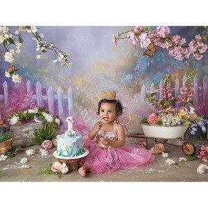 Image 1 - Vinyl Fotografie Kulissen Rosa Blumen Frühling Bokeh Foto Hintergrund Baby Dusche Dekorationen Photo Hintergrund Requisiten