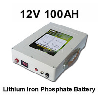12V 100AH Lithium Iron Phosphate Battery Aluminum Shell for Recreational Vehicle Electric Vehicle With Charger+Battery Backpack